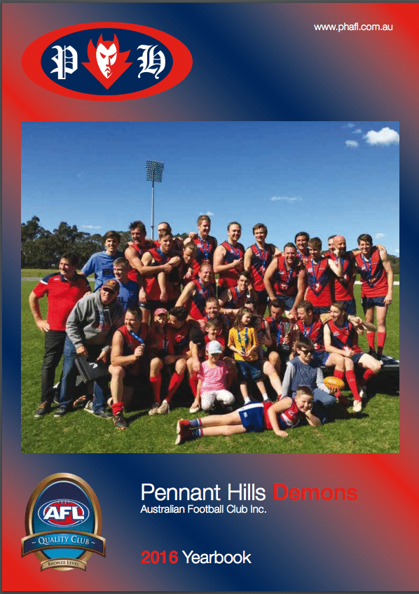 Pennant Hills Demons Yearbook 2016