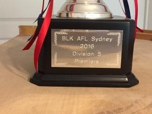 Cup Div 5 plaque