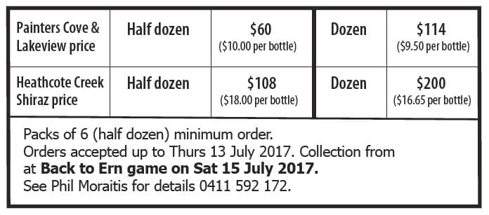 2017 wine drive prices